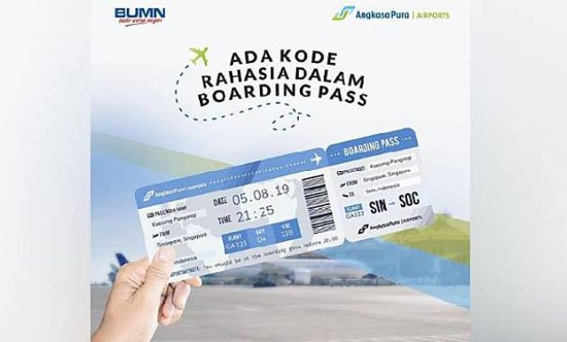 Cara Membaca Boarding Pass, Ada Kode Rahasia Kelas Tiket Pesawat